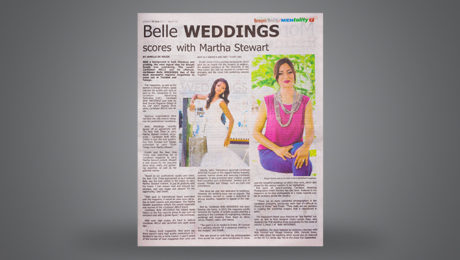 Belle WEDDINGS scores with MARTHA STEWART